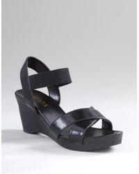 Lauren by Ralph Lauren Ronia Strappy Wedge Sandals - Lyst