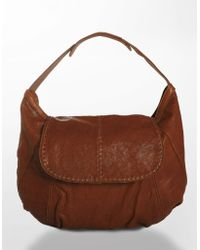 Lucky Brand - Classic Rider Leather Hobo Bag - Lyst