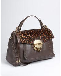 MICHAEL Michael Kors Margo Leather Handbag - Lyst