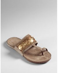Pelle Moda - Eaton Beaded Thong Sandals - Lyst