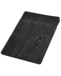Robe Di Firenze - Card and Id Black Leather Holder - Lyst