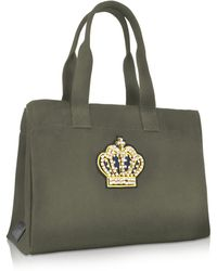 1350ad17a5c Tory Burch Fleming Triple Compartment Tote in Black - Lyst