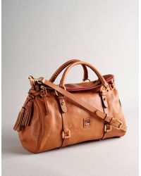 Dooney & Bourke Florentine Vaccheta Satchel brown - Lyst