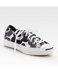 Converse Jack Purcell Helen Cotton Canvas Sneakers - Lyst