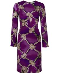 Mary Katrantzou Bow Print Shift Dress - Lyst