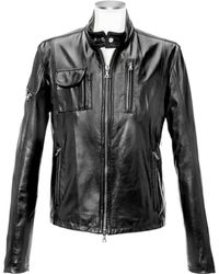 Forzieri Black Italian Leather Motorcycle Jacket - Lyst