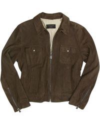Forzieri Brown Four-pocket Leather Zip Jacket - Lyst