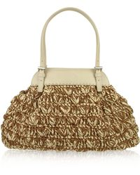 FORZIERI - Capaf Line Woven Straw & Leather Satchel Bag - Lyst