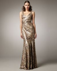 David Meister Sequined Gown - Lyst