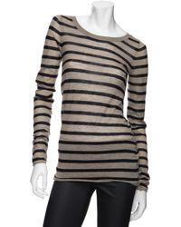 Enza Costa Exclusive Stripe Cashmere Sweater - Lyst