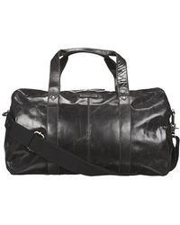 Fossil - Jackson Dom Leather Duffle Bag Black - Lyst