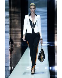 Gucci Spring 2012 Black High Waisted Pants With Tuxedo Orange Stripes Down The Sides - Lyst