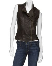 Improvd | Leather Moto Vest | Lyst