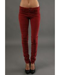 Sold Design Lab Skinny Cord Pant in Red - Lyst