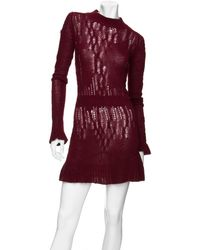 Theyskens' Theory - Chunky Cableknit Sweater Dress - Lyst