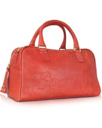 Alviero Martini 1A Classe - Geo Terracotta - Leather Satchel Bag - Lyst
