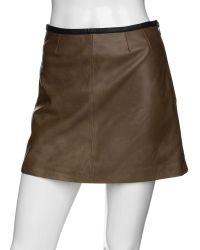 VEDA Bowie A Line Leather Skirt - Lyst