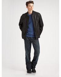 Ugg Garrapata Leather Jacket - Lyst