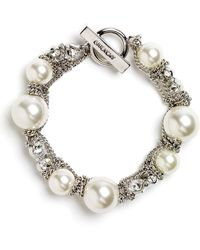 Givenchy Vanguard Small Faux Pearl Bracelet - Lyst