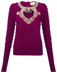 Manoush - Angora Embellished Sweater - Lyst