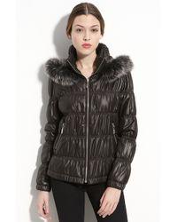 Royal Underground Hooded Puffer Jacket with Genuine Fox Fur Trim - Lyst