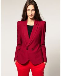 ASOS Collection Asos Tailored Blazer with Power Shoulders - Lyst