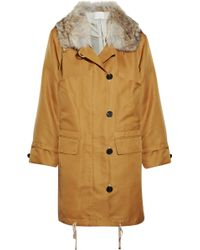 3.1 Phillip Lim Shearling-trimmed Oversized Twill Parka - Lyst