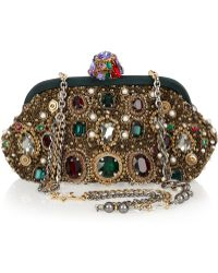 Dolce & Gabbana Jewel And Pearl-Embellished Clutch multicolor - Lyst
