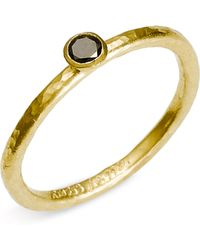 Gurhan Skittle Stackable Black Diamond Ring - Lyst
