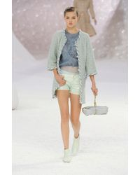 Chanel Spring 2012 Leather Mini Shorts - Lyst