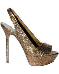 Sergio Rossi 130mm Glitter Sandals - Lyst