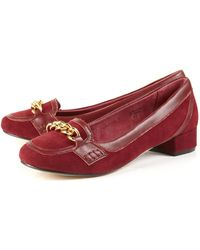 Jigsaw | Chain Suede Heeled Loafers | Lyst