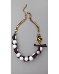 Juicy Couture - The Crown Jewels Gumball Pearl Necklace - Lyst