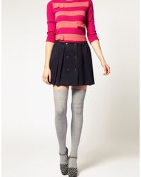 ASOS Collection Asos Wool Cable Over The Knee Socks gray - Lyst