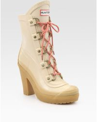 Hunter Gabby Lace-up Ankle Boots - Lyst