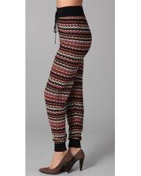 M Missoni | Tie Waist Pants | Lyst