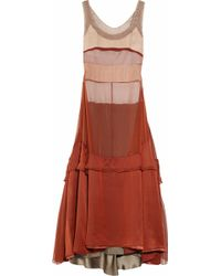 Narciso Rodriguez Silk-mousseline Dress - Lyst