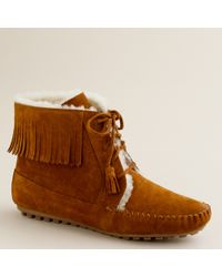 J.Crew Minnetonka® Shearling-lined Lace-up Boots - Lyst
