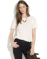 Madewell Scallop Lace Top - Lyst