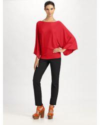 Ralph Lauren Black Label Kimono Sleeve Boatneck Top - Lyst