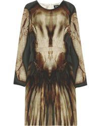 McQ by Alexander McQueen Phantom Print Silk Dress - Lyst