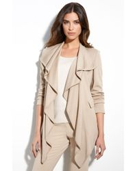 St. John Collection Ruffle Front Milano Knit Jacket - Lyst