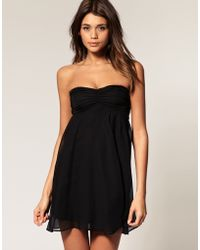 ASOS Collection Asos Dress with Tie Back Chiffon Drape - Lyst