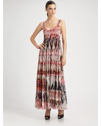 Jean Paul Gaultier Tiered Tulle Maxi Dress - Lyst