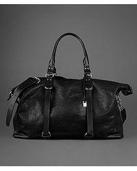 John Varvatos Textured Leather Duffle - Black