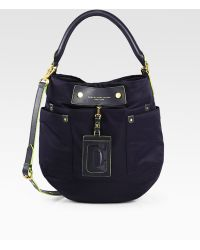 Marc By Marc Jacobs Preppy Nylon & Leather Hillier Hobo - Lyst