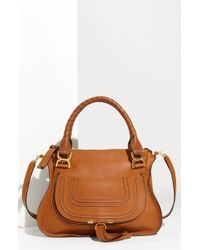 Chloé 'Marcie - Small' Leather Satchel brown - Lyst