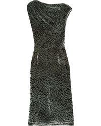 J.Crew - Ice Leopard Printed Velvet Dress - Lyst