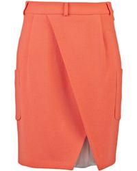Preen By Thornton Bregazzi Knife Skirt orange - Lyst