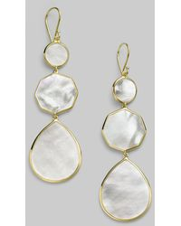 Ippolita Polished Rock Candy Mother-Of-Pearl & 18K Yellow Gold Crazy 8'S Drop Earrings gold - Lyst